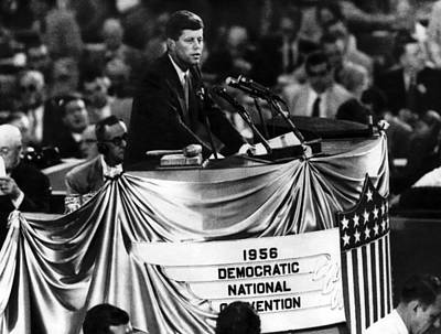 John F. Kennedy At The Democratic Poster by Everett