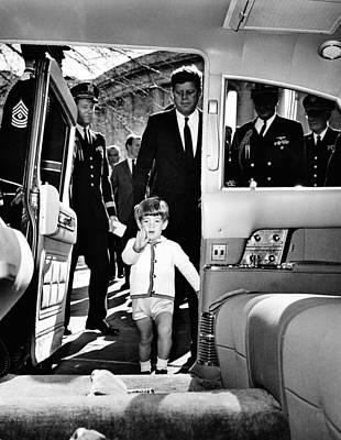 John Kennedy Jr. Enters Poster by Everett