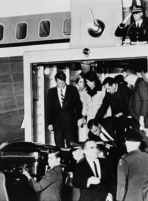 John Kennedys Coffin. Robert Kennedy Poster by Everett