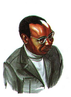 John Mbiti Poster by Emmanuel Baliyanga