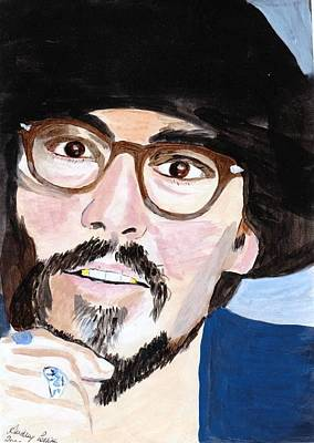Poster featuring the painting Johnny Depp 5 by Audrey Pollitt