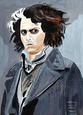 Poster featuring the painting Johnny Depp 6 by Audrey Pollitt