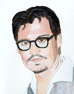 Poster featuring the painting Johnny Depp 7 by Audrey Pollitt
