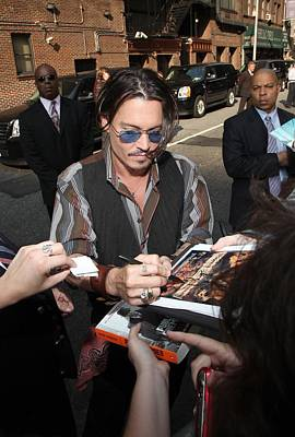 Johnny Depp At Talk Show Appearance Poster