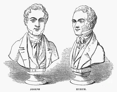 Joseph And Hyrum Smith Poster by Granger