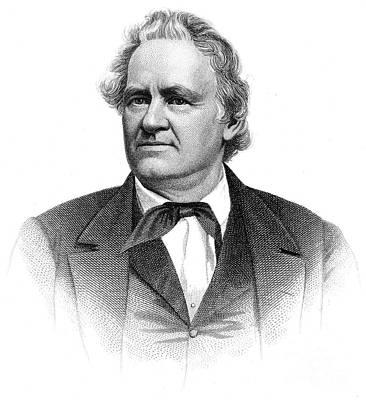 Joshua Reed Giddings (1795-1864). American Legislator. Line And Stipple Engraving Poster