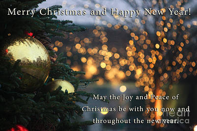 Joy And Peace Of Christmas Poster by Nishanth Gopinathan