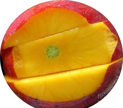 Juicy Red Mango Poster