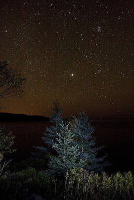 Poster featuring the photograph Jupiter  Over Otter Point 3 by Brent L Ander
