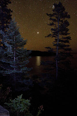 Poster featuring the photograph Jupiter Rising Over Otter Point by Brent L Ander
