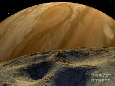 Jupiter Seen From One Of Its Innermost Poster by Ron Miller