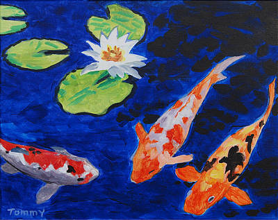 Just Being Koi Poster