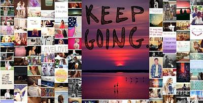 Just Keep Going Poster by Holley Jacobs