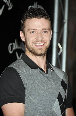 Justin Timberlake At The Press Poster by Everett