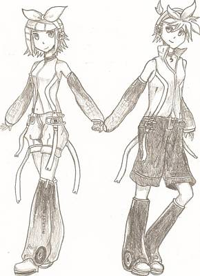 Kagamine Rin And Len  Poster