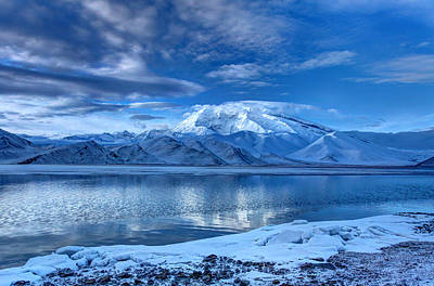 Karakuri Lake-kashgar Poster by Ken Koh