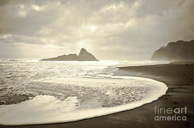 Karekare Beach In New Zealand Poster by Yurix Sardinelly