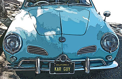 Karmann Ghia Front Study Poster by Samuel Sheats