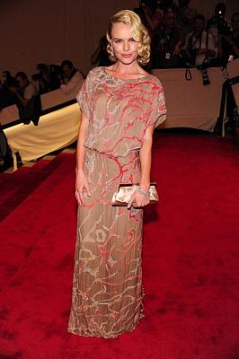 Kate Bosworth Wearing A Gown Poster by Everett