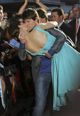 Katie Holmes, Tom Cruise At Arrivals Poster