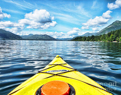 Kayaking In Bc Poster by Traci Cottingham