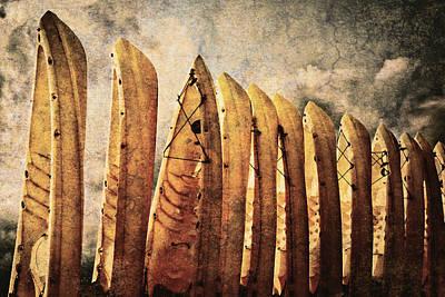 Kayaks Poster by Skip Nall