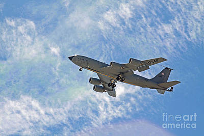 Kc-135 With Clouds Poster by Kenny Bosak