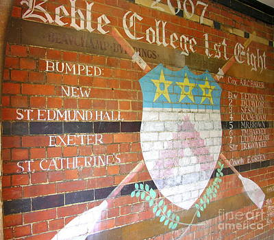 Keble College 2007 Rowing Standings Poster by Anne Gordon