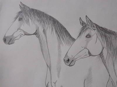 Keiger Mustangs Poster by Gerald Strine