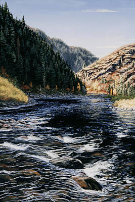 Poster featuring the painting Kelly Creek by Kurt Jacobson