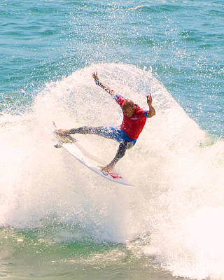 Kelly Slater Us Open Of Surfing 2012   2 Poster by Jason Waugh