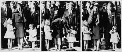 Kennedy Family Following Requiem Mass Poster by Everett