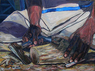 Poster featuring the painting Kenny's Hands by Li Newton
