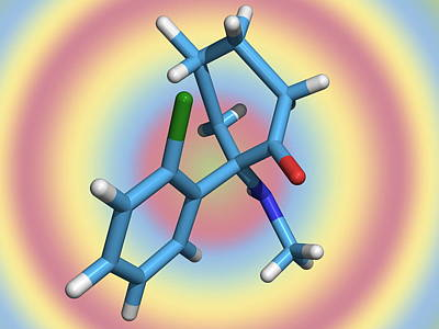Ketamine Molecule, Recreational Drug Poster