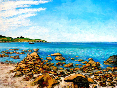 Poster featuring the painting Kettle Cove by Tom Roderick