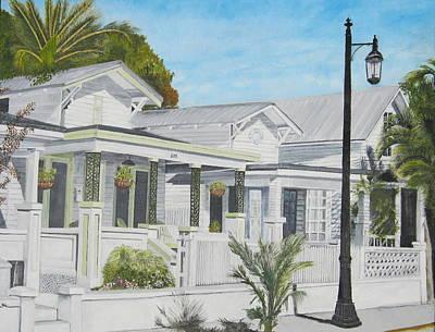 Key West - Whitehead Street Poster by John Schuller