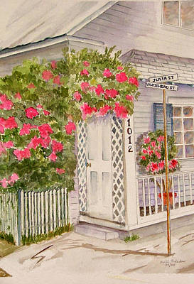 Key West Home Poster by Heidi Patricio-Nadon
