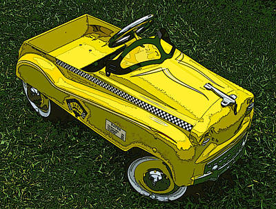 Kid's Pedal Car Taxi Poster