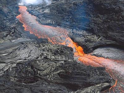 Kilauea Lava Flow Poster by Karen Nicholson