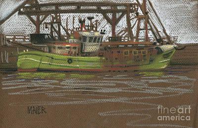 Kilmore Quay Fishing Trawler Poster by Donald Maier