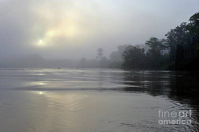 Kinabatangan River At Sunrise Poster by Sami Sarkis