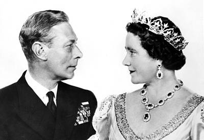 King George Vi And Queen Elizabeth Poster by Everett