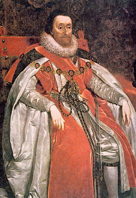 King James I 1566-1625, Ruled England Poster by Everett
