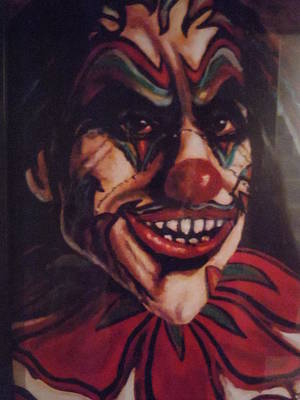 Poster featuring the painting King Klown by James Guentner