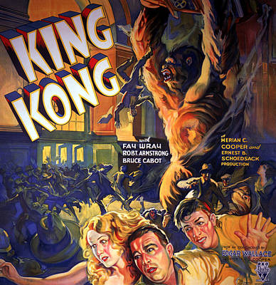 King Kong, Fay Wray, Robert Armstrong Poster by Everett