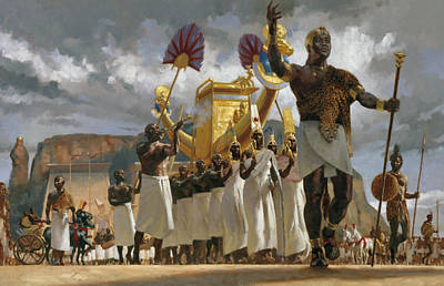 King Taharqa Leads His Queens Poster by Gregory Manchess