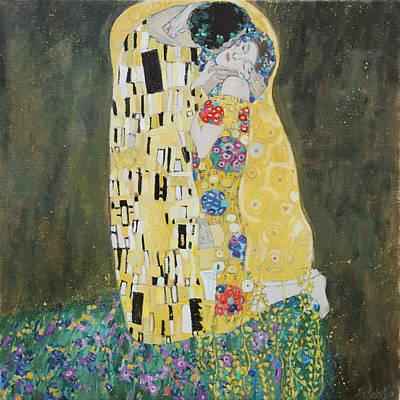 Kiss Copy Of Gustav Klimt Poster