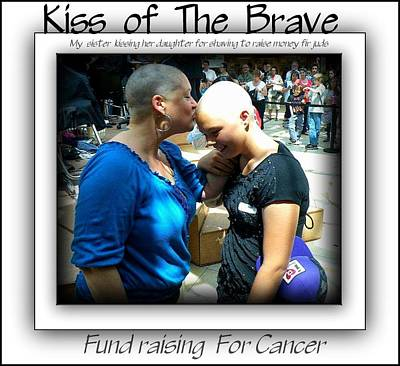 Kiss Of The Brave Poster by Danielle  Parent