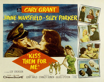 Kiss Them For Me, Cary Grant, Suzy Poster