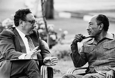 Kissinger And Sadat, 1975 Poster by Granger